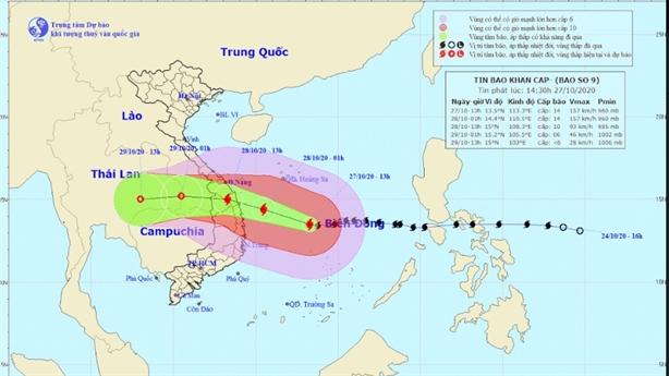 Tình hình bão số 9 - Rủi ro thiên tai đạt cấp 4