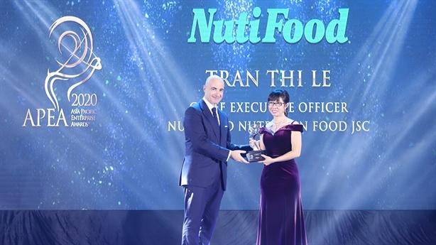 NutiFood lập hat-trick giải thưởng xuất sắc châu Á