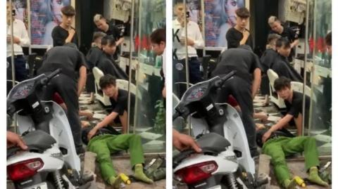 Trung uý công an bị tông, tài xế đạp nhầm chân ga?