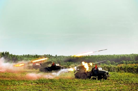 Pháo phản lực BM-21, Lữ đoàn Pháo binh 434, chi viện bộ binh tiêu diệt địch.