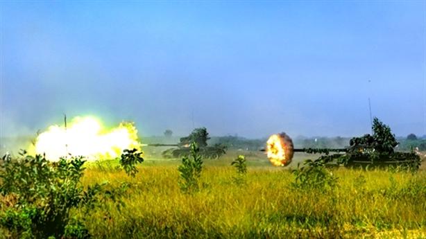 Sư đoàn 309 diệt mục tiêu bằng vũ khí hạng nặng