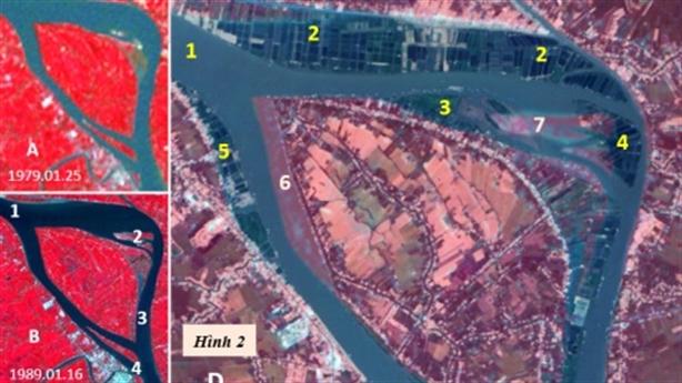 Sông Hậu, Cù lao Mỹ Hòa Hưng và Thành phố Long Xuyên