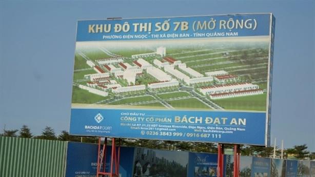 Quảng Nam cảnh báo hàng chục dự án bất động sản