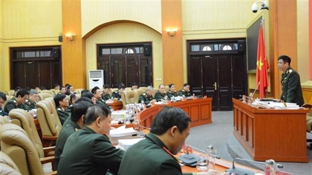 Bộ Quốc phòng thông qua điều lệnh chiến đấu
