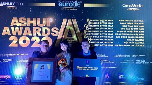 ASHUI Awards: Capital House là Chủ đầu tư của năm 2020