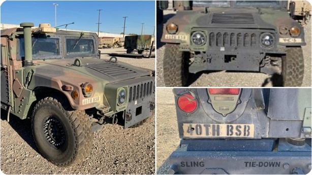 Mỹ truy tìm xe Humvee của Vệ binh quốc gia mất cắp
