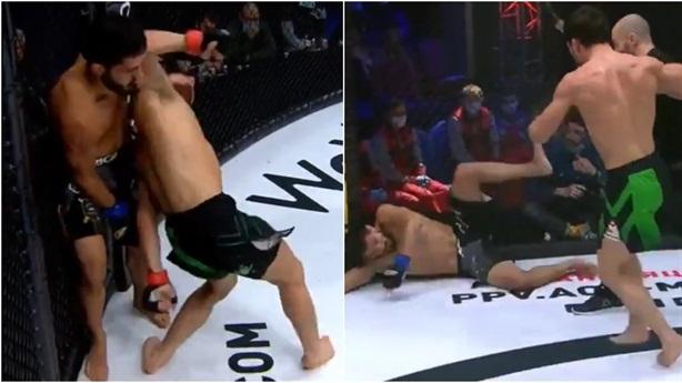 'Cùi chỏ vô hình' của võ sĩ Nga hạ knock-out đối thủ