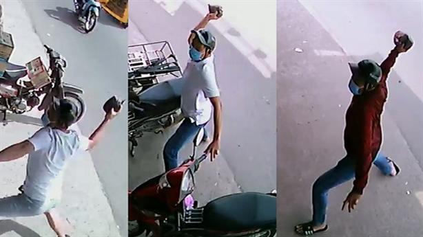 Hai tháng, tiệm thuốc bị tạt sơn 6 lần: Cùng một người?