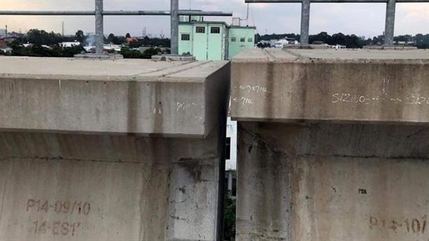 Rớt gối dầm cầu tuyến metro số 1: Gối cầu không đạt