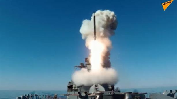 Khu trục hạm Nga lần đầu phóng Kalibr trên Biển Nhật Bản