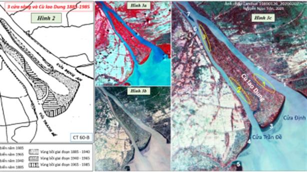 Sông Hậu và các cửa sông Định An, Bassac và Trần Đề