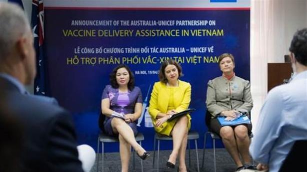 Úc và UNICEF hỗ trợ phân phối vắc-xin Covid-19 tại Việt Nam