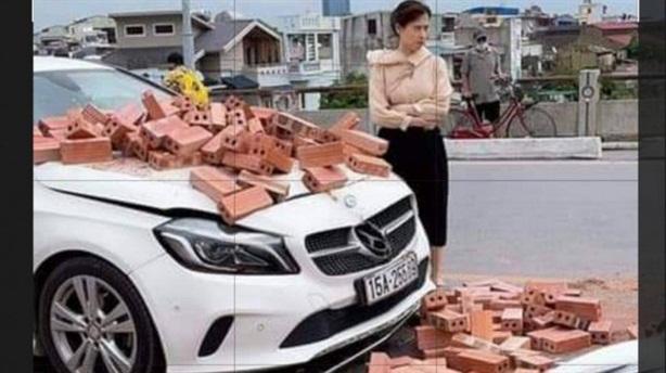Bị đâm hỏng Mercedes, nữ tài xế không bắt đền: 'Không nỡ'