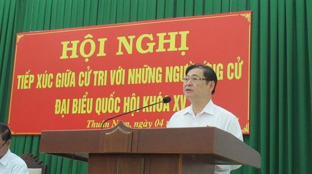 Chủ tịch VUSTA Phan Xuân Dũng tiếp xúc cử tri