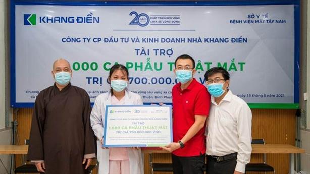 Khang Điền tài trợ phẫu thuật mắt 1000 bệnh nhân vùng sâu