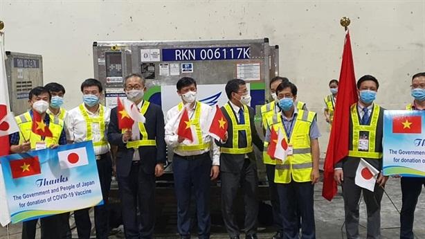Nhật viện trợ thêm 1 triệu liều vaccine COVID-19 cho Việt Nam