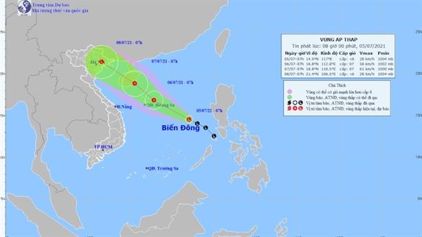 Miền Bắc có mưa lớn, Biển Đông có áp thấp
