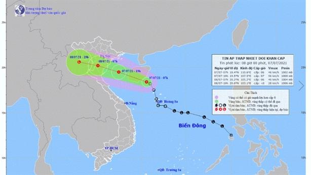 Áp thấp nhiệt đới gây mưa lớn miền Bắc, Bắc Trung Bộ