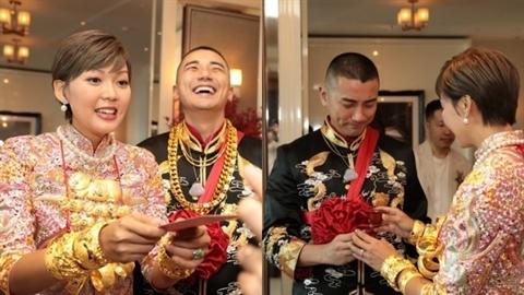 Cận cảnh đám cưới 'dát toàn vàng' của tài tử hạng A