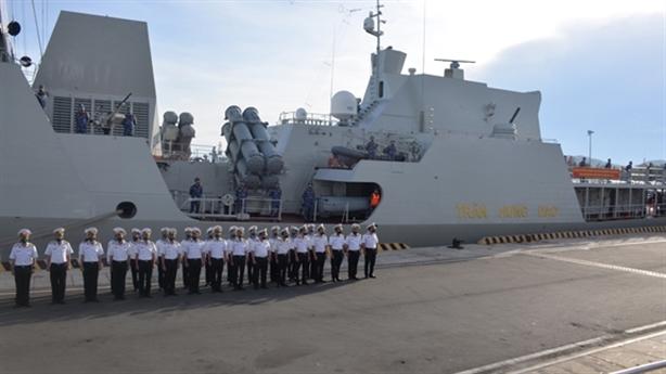 Hình ảnh cặp tàu Gepard Việt Nam lên đường dự Army Games-2021