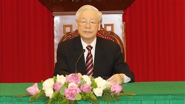 TBT Nguyễn Phú Trọng điện đàm với Tổng thống Hàn Quốc