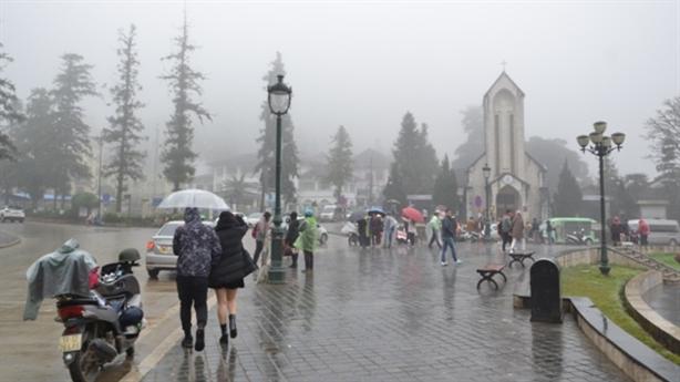 Đón mưa mát, Sa Pa chuyển rét 17,1 độ C
