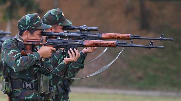 Xạ thủ Việt Nam luyện bắn, sẵn sàng cho Army Games 2021