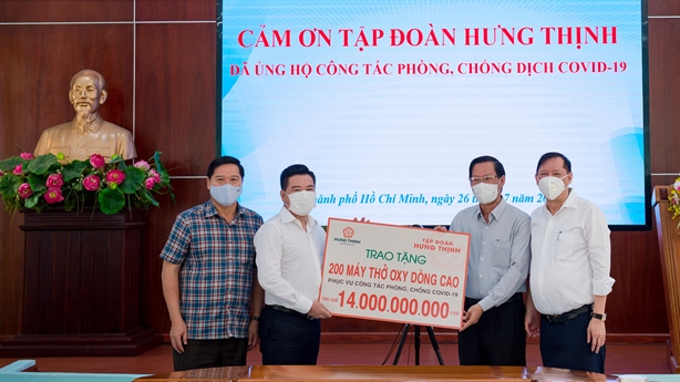 Hưng Thịnh hỗ trợ khẩn hàng chục tỷ cùng TP.HCM chống Covid-19