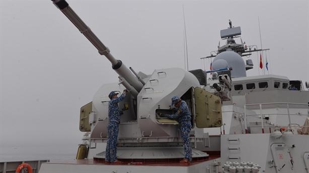 Tàu Việt Nam huấn luyện tại Vladivostok, sẵn sàng cho 'Cúp biển'