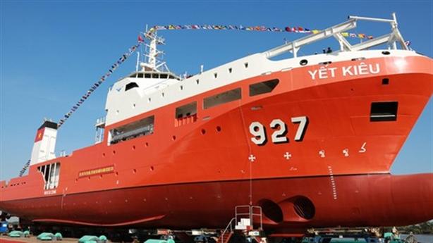 Bàn giao tàu tìm kiếm cứu nạn tàu ngầm: Bước tiến lớn...