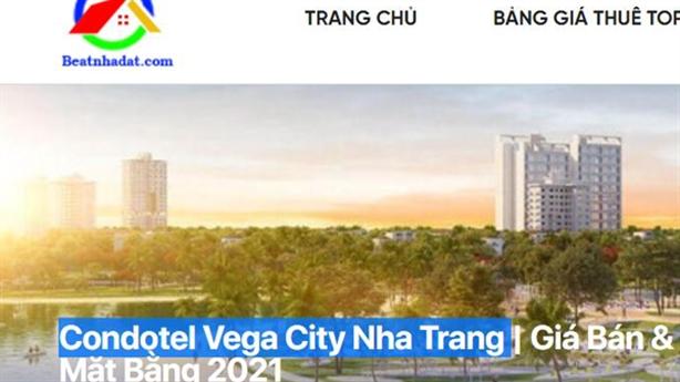 Chủ đầu tư Vega City Nha Trang lên tiếng việc rao bán...condotel