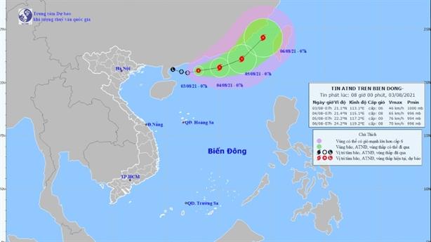 Áp thấp nhiệt đới hình thành nhanh chóng trên Biển Đông