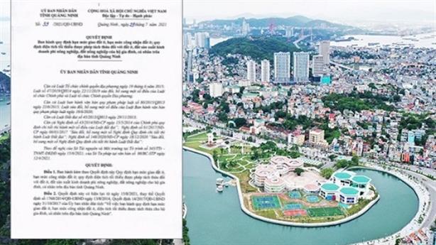 Quảng Ninh cấm tách thửa đất dưới 45m2