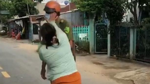Chồng vi phạm Chỉ thị 16, vợ đánh công an:'Ở nhà buồn'