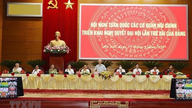 Ngành nội chính họp triển khai Nghị quyết Đại hội Đảng XIII