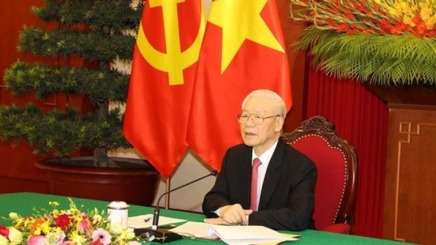 TBT Nguyễn Phú Trọng điện đàm với TBT Tập Cận Bình