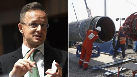 Kiev triệu đại sứ Hungary sau hợp đồng với Gazprom