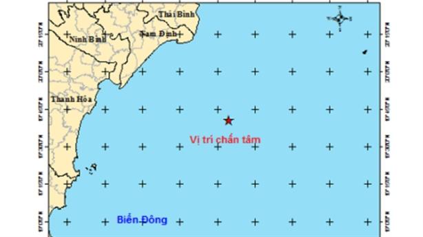 Động đất ngoài khơi bờ biển Sầm Sơn: 'Hiện tượng bình thường'
