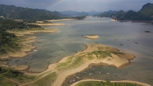 Mực nước hồ chứa trên thượng lưu sông Hồng thấp kỷ lục