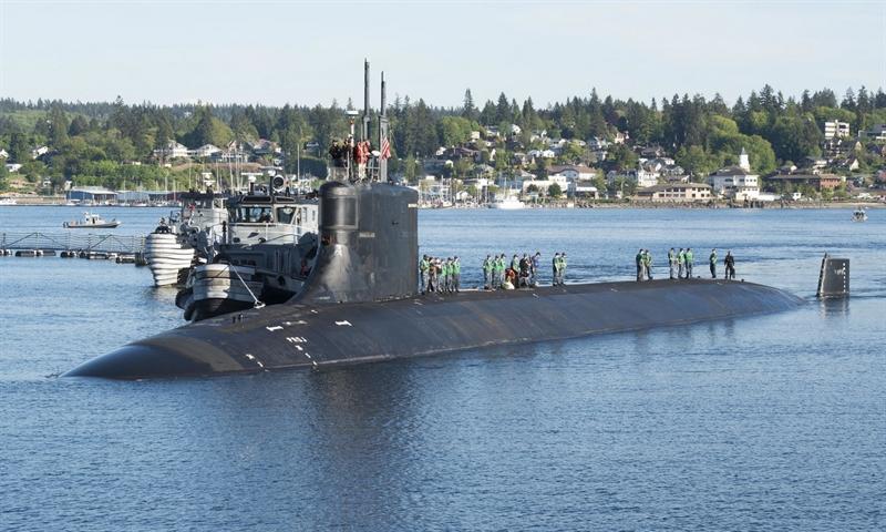 Thông tin được lãnh đạo hạm đội ngầm thuộc Hải quân Mỹ, Aaron Amick cho biết hôm 11/10: \
