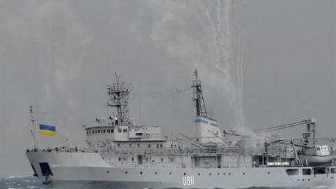 Tàu Hải quân Ukraine bị nổ tung tại phía Tây Crimea