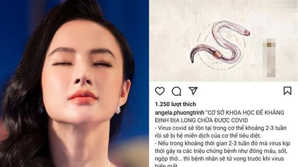Angela Phương Trinh tung tin giun đất chữa...ung thư: 'Phải xử nghiêm'